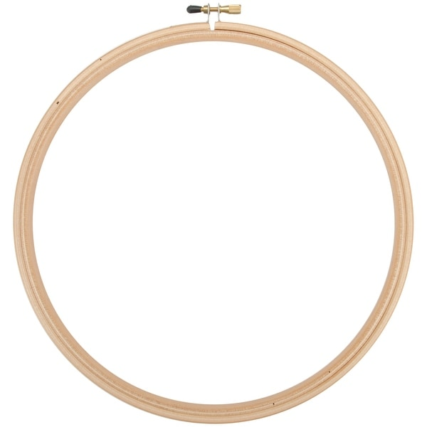 "Wood Embroidery Hoop W/Round Edges 9""-Natural"