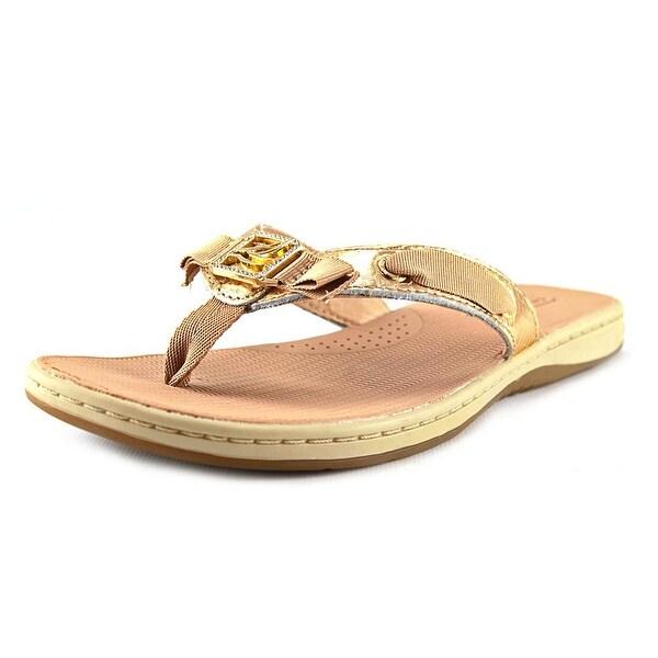 Sperry Top Sider Serenafish Open Toe Leather Flip Flop Sandal