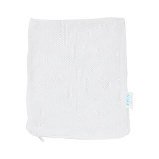 Zip Closure Fish Tank White Fabric Breeder Net Meshy Bag 190mm x 150mm