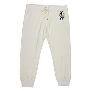 Juicy Couture Black Label Womens Trop Couture Velour Slim Pant - XL