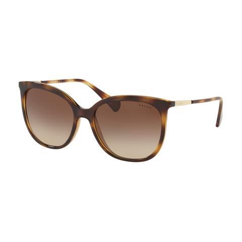 Ralph RA5248 500313 56 Dark Havana Woman Butterfly Sunglasses - Tortoise