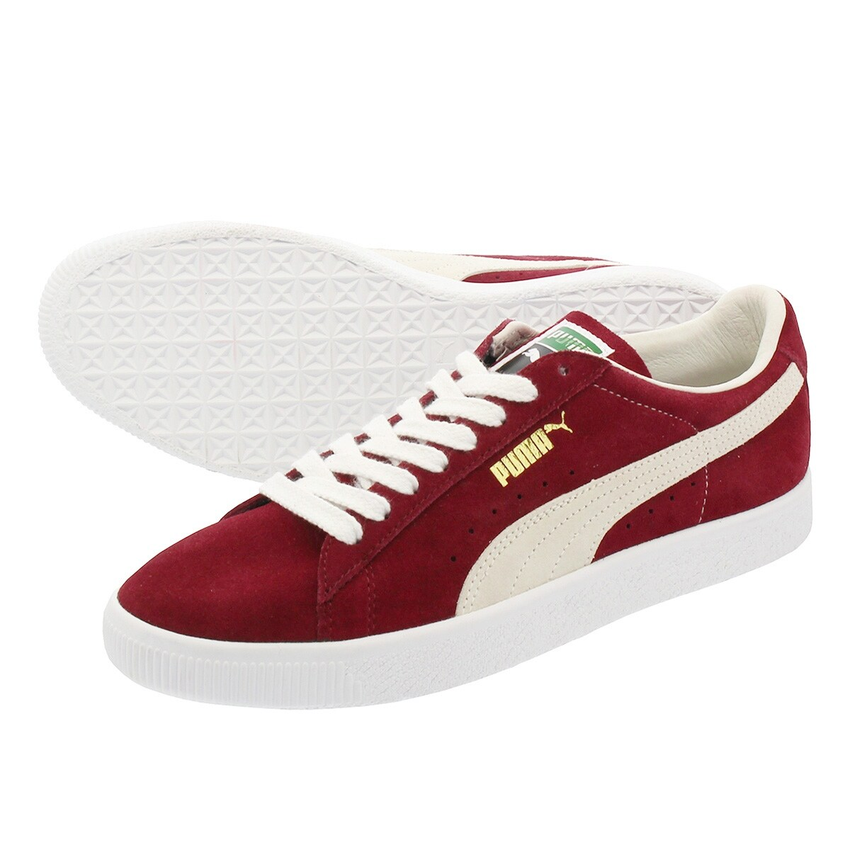quality design e94b7 25452 Puma Mens Suede 90681 Leather Low Top Lace Up Skateboarding Shoes