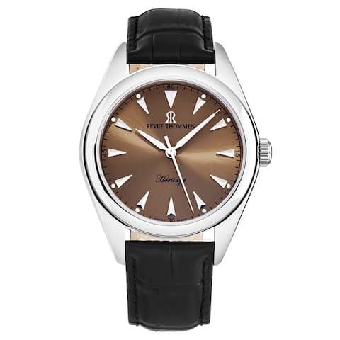 Revue thommen men's 'heritage' salmon dial automatic watch 21010.2539