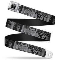 Harry Potter Logo Full Color Black White Harry Potter Undesirable No 1 Seatbelt Belt