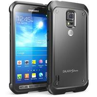 Galaxy S5 Active Case, Supcase, Unicorn Beetle Series Hybrid Bumper Case-Frost Clear/Black
