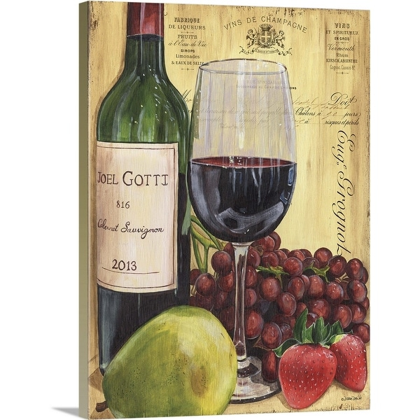 """""""Wine and Pear"""" Canvas Wall Art"""