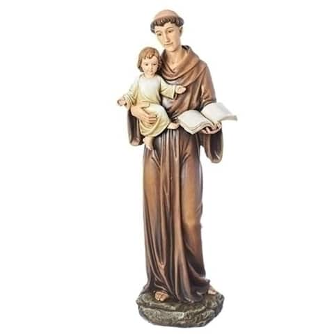 b3e5f2e2ef573 Set of 2 Brown and Beige Joseph Studio Renaissance Themed Saint Anthony  Figure 18.5