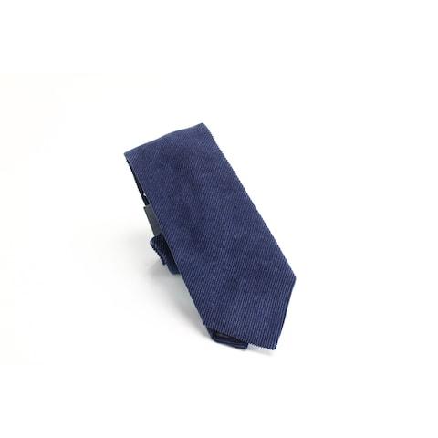 Sean John Men's Navy Blue Corduroy Solid Classic Slim Neck Tie Accessory