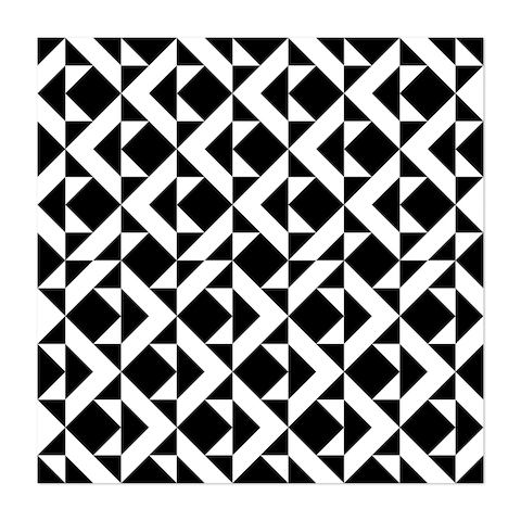 Abstract Black And White Unframed Wall Art Print/Poster
