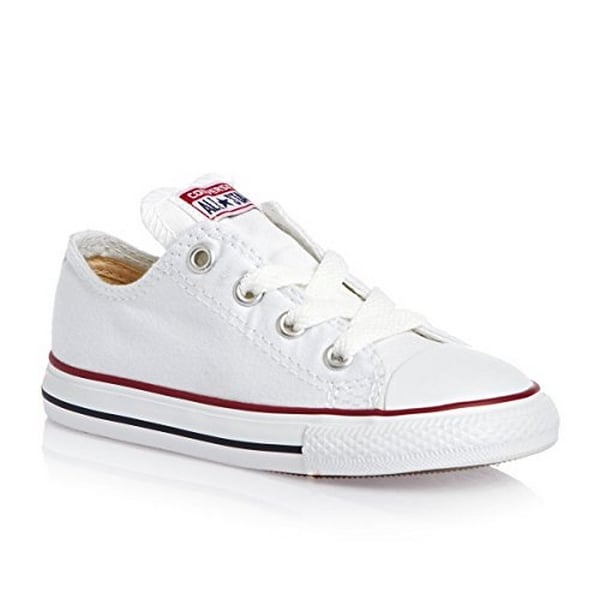 a998913eff87 Converse Unisex Child Infant Toddler Chuck Taylor All Star Ox - White - 7  Tod