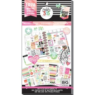 Create 365 Happy Planner Sticker Value Pack-Watercolor