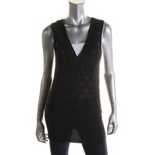 Catherine Malandrino Womens Cashmere V-Neck Tank Top Sweater - S
