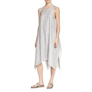 Eileen Fisher Womens Casual Dress Silk Printed