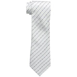 Geoffrey Beene NEW White City Grid Plaid Mens Casual Business Necktie
