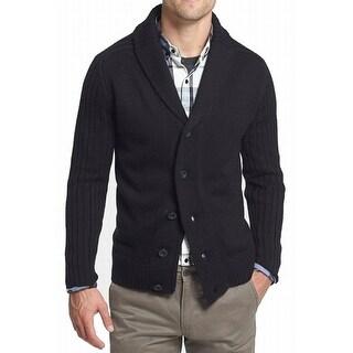 7 Diamonds NEW Black Mens Size 2XL Shawl Collar Cardigan Wool Sweater