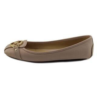 c451784763ba MICHAEL Michael Kors Womens Fulton Moc Leather Square Toe Slide Flats