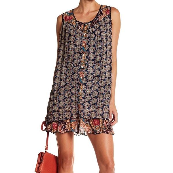 086b887f57d48 Shop Papillon Women's Small Floral Button Down Shift Dress - Free ...