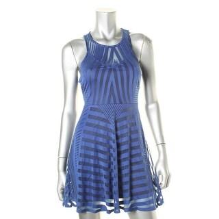 Material Girl Womens Juniors Burnout Striped Casual Dress - XS