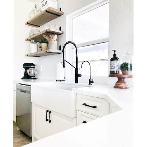 36-Inch Fireclay Farmhouse Kitchen Sink - Contemporary European Design