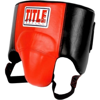 Title Boxing Classic Lightweight Wrap-Around Protective Cup - Black/Red