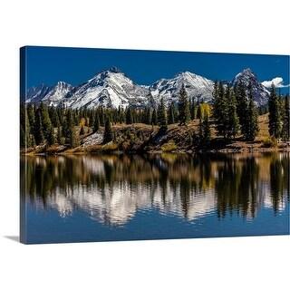 Panoramic Images Premium Thick-Wrap Canvas entitled Mountains, Colorado - Multi-color