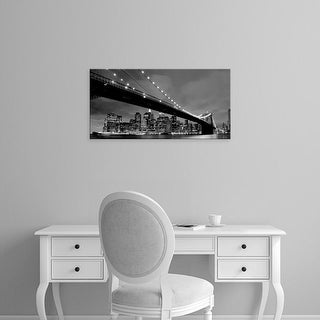 Easy Art Prints PhotoINC Studio's 'Brooklyn Bridge View' Premium Canvas Art