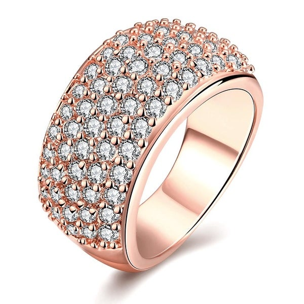 Rose Gold Classical Pave' Ring