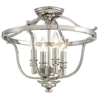 Minka Lavery 3296-613 4 Light Flush Mount Ceiling Fixture from the Audrey's Point Collection