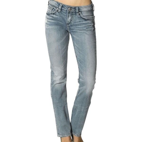 Silver Jeans Denim Womens Suki Bootcut Destructed Light