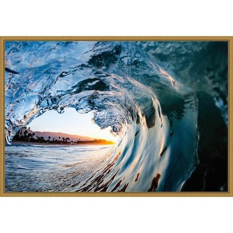 Wave 11 by John Baran Framed Canvas Art