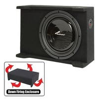"Audiopipe Single 12"" Shallow Downfire Sealed Enclosure With Sub"