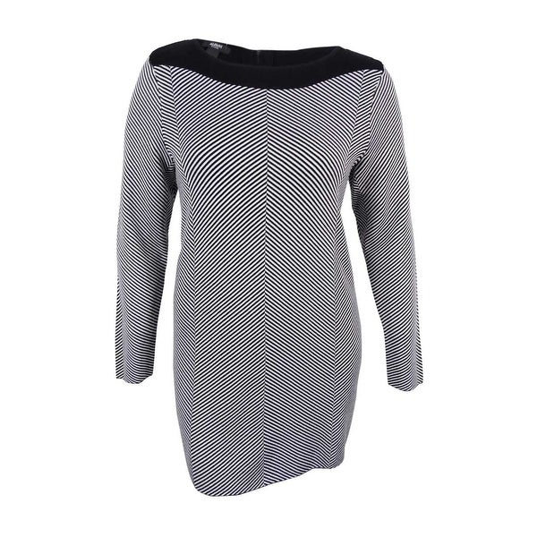 d6d247fb181f29 Shop Alfani Women s Plus Size Jacquard-Knit Chevron Tunic Sweater - Chevron  Stripe - Free Shipping Today - Overstock.com - 17019014