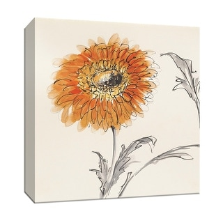 """PTM Images 9-153264  PTM Canvas Collection 12"""" x 12"""" - """"Orange Gerbera III"""" Giclee Flowers Art Print on Canvas"""
