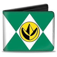 Diamond Green Ranger Dragonzord Power Logo Bi Fold Wallet - One Size Fits most