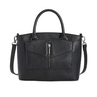 Danielle Nicole Womens Bennett Satchel Handbag Faux Leather Pebbled - MEDIUM