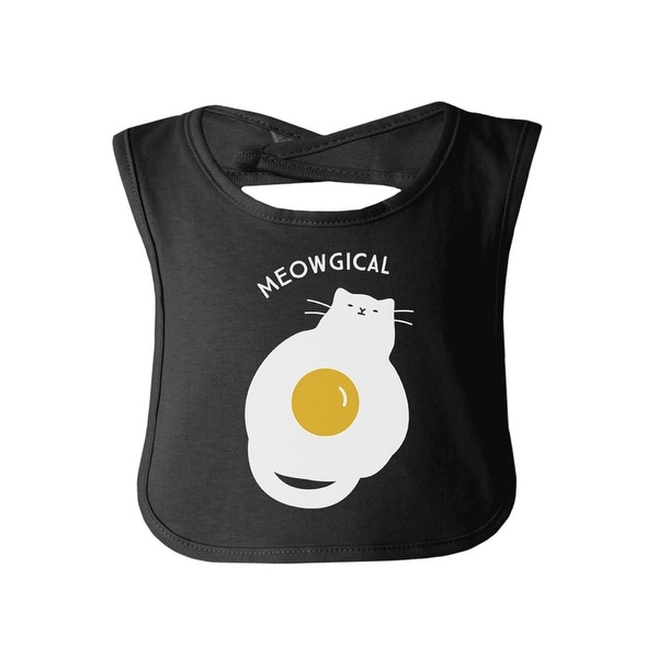 Meowgical Cat Black Baby Bib Cute Cat Baby Bib Gift Cat Mom Gifts