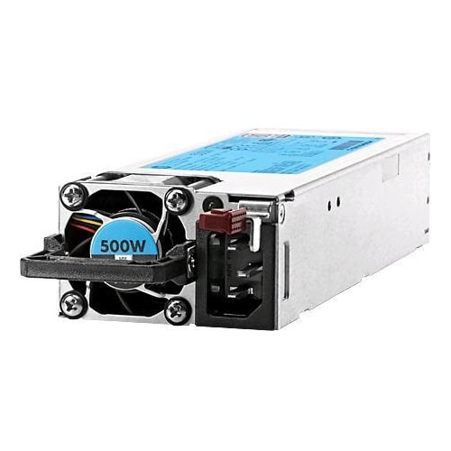 """HPE - Power supply - hot-plug / redundant ( plug-in module ) - Flex Slot - 80 PLUS Platinum - AC 100-240 V - 500 Watt - 564 VA"