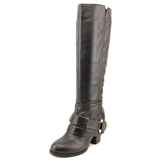Fergalicious Theory Women Round Toe Synthetic Black Knee High Boot