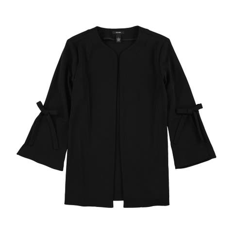 Alfani Womens Bow Sleeve Ponte Jacket, black, Medium