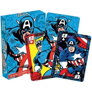 Captain America Licensed Playing Cards - Standard Poker Deck - Multicolor