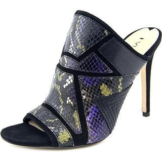 Via Spiga Tarot Women Open Toe Leather Black Sandals