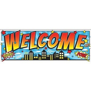 Ashley Productions ASH11309 Superhero Magnetic Welcome Banner