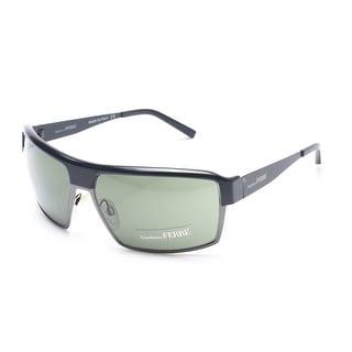 Gianfranco Ferre Women's Shield Sunglasses Gunmetal - Small