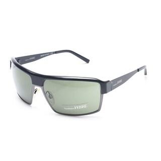 Gianfranco Ferre Women's Shield Sunglasses Gunmetal - Silver - Small