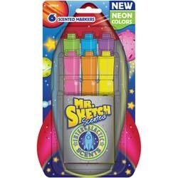 Assorted Neon - Scented Chisel Markers 6/Pkg