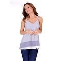 Simply Ravishing Women's Light V Neck Sleeveless Printed Chiffon Loose Fit Tunic Tank Top - Thumbnail 8