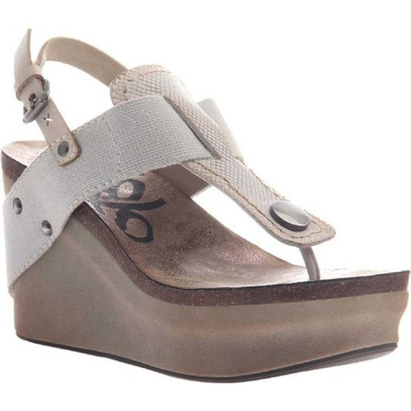 bb9989ec625 Shop OTBT Women s Joyride Wedge Sandal Dove Grey Leather Textile - Free  Shipping Today - Overstock - 18013460