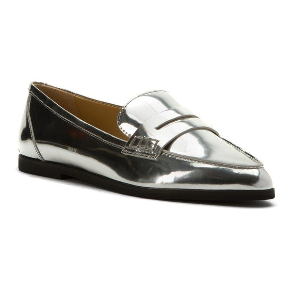 MICHAEL Michael Kors Womens Connor Leather Pointed Toe Loafers