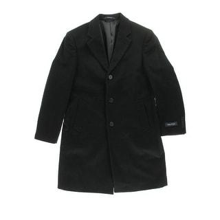 Nautica Mens Wool Notch Collar Pea Coat