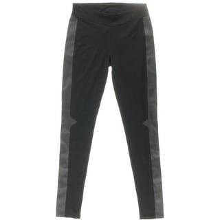 Kensie Womens Ponte Faux Leather Leggings - M